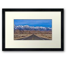 Up from the valley floor Framed Print