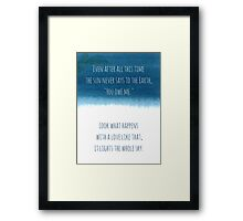 After All This Time Framed Print