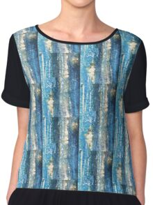 mixed media paper lines Chiffon Top