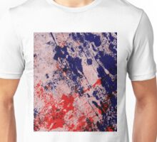 Hot And Cold - Textured Abstract In Blue And Red Unisex T-Shirt