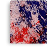 Hot And Cold - Textured Abstract In Blue And Red Canvas Print