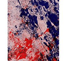 Hot And Cold - Textured Abstract In Blue And Red Photographic Print