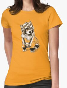 Rebel Corgi Womens Fitted T-Shirt