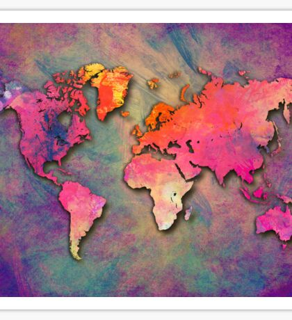 World Map special 4 Sticker