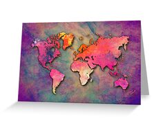 World Map special 4 Greeting Card