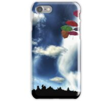 Umbrellas Over Hobart Hill iPhone Case/Skin