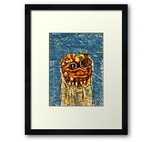 CREEPY MONSTER ONE Framed Print