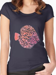 Discus fish Women's Fitted Scoop T-Shirt