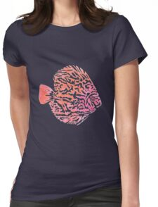 Discus fish Womens Fitted T-Shirt