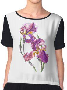 Irises-1 Chiffon Top