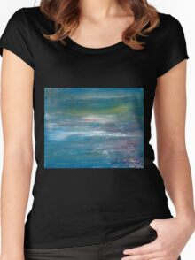 Megan Lewis-Sea of Passion - Original acrylic painting on Canvas Women's Fitted Scoop T-Shirt