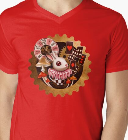 Bunny Time Mens V-Neck T-Shirt