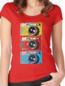 3 Leica M9s Women's Fitted Scoop T-Shirt