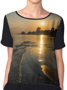 Golden Sands and Gentle Waves - Lake Erie, Ontario, Canada Chiffon Top