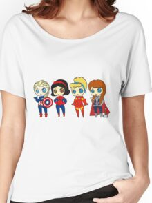 SUPERHERO PRINCESSES Women's Relaxed Fit T-Shirt