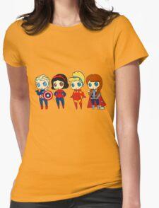 SUPERHERO PRINCESSES Womens Fitted T-Shirt