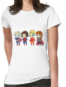 SUPERHERO PRINCESSES Womens Fitted T-Shirt