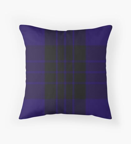 00466 Blue Spirit Fashion Tartan  Throw Pillow