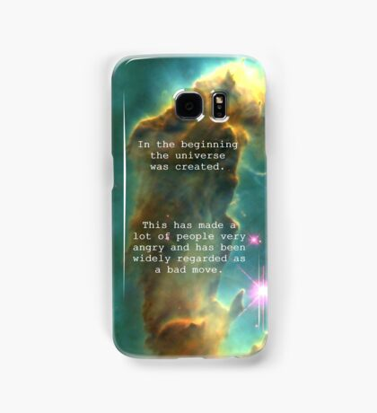 Hitchhiker's Guide Quote Samsung Galaxy Case/Skin