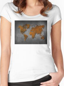 World map special 6 Women's Fitted Scoop T-Shirt