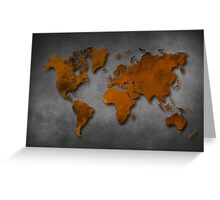 World map special 6 Greeting Card