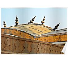 Agra Fort Roof  Poster