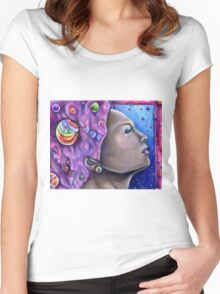 Cotton Candy Dream Women's Fitted Scoop T-Shirt