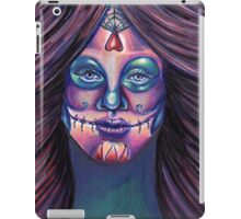 Serenity-Mixed Media Drawing of a Day of the Dead Girl iPad Case/Skin
