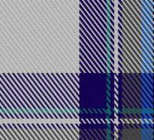 00459 Blue Dunnett Tartan  Sticker