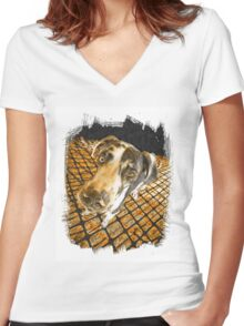 Great Dane Women's Fitted V-Neck T-Shirt