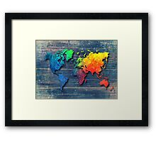 World map special 8 Framed Print