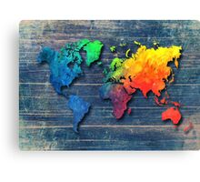 World map special 8 Canvas Print