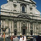 Facade Church Gesu Rome Italy 19840719 0037 by Fred Mitchell