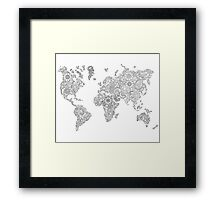 Floral continents Framed Print