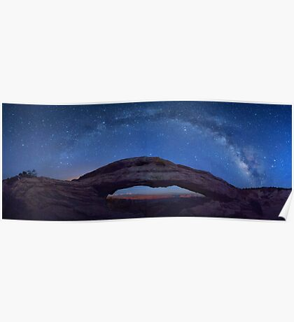 Night Sky Over Mesa Arch Poster