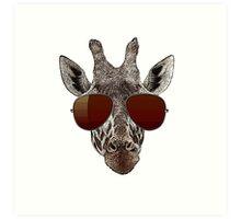 cool giraffe is cool   Art Print