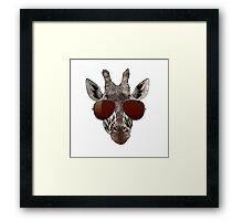 cool giraffe is cool   Framed Print