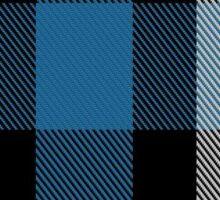 00482 Ferguson Dress Blue Dance Tartan  Sticker