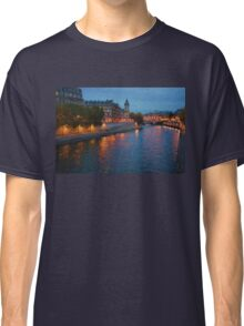 Impressions of Paris - Seine River at Night Classic T-Shirt