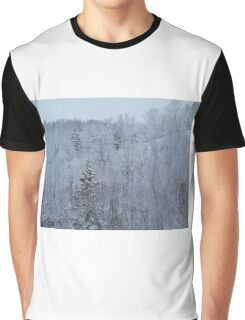 A snowy spring scene. Graphic T-Shirt