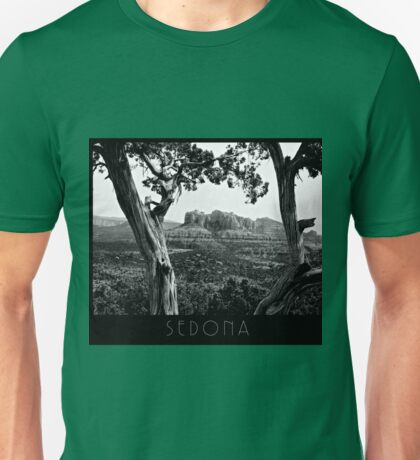 Juniper Frames Sedona's Red Rocks - B&W Unisex T-Shirt