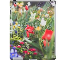 colorful flower bed with many spring flowers iPad Case/Skin