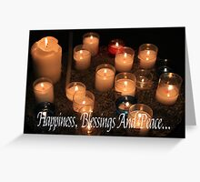 Hapiness, Blessings and Peace Greeting Card