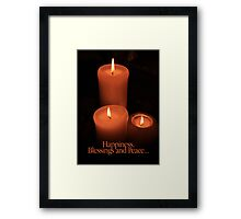 Happiness, Blessings and Peace... Framed Print