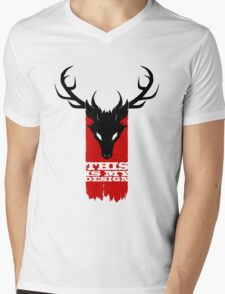 Feathers, Antlers, and Nightmares Mens V-Neck T-Shirt