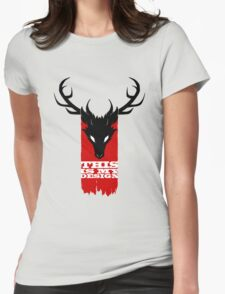 Feathers, Antlers, and Nightmares Womens Fitted T-Shirt