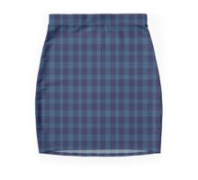00489 Indigo Blue Tartan Mini Skirt