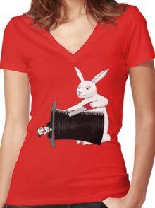 Rabbit vs. Magician Women's Fitted V-Neck T-Shirt