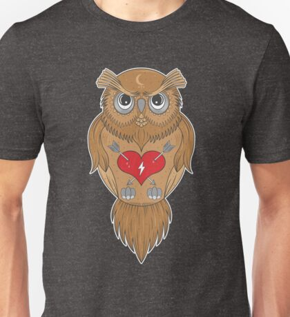 Artistic Wise Owl Unisex T-Shirt