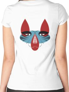 Coyote the Trickster in red, black and white Women's Fitted Scoop T-Shirt